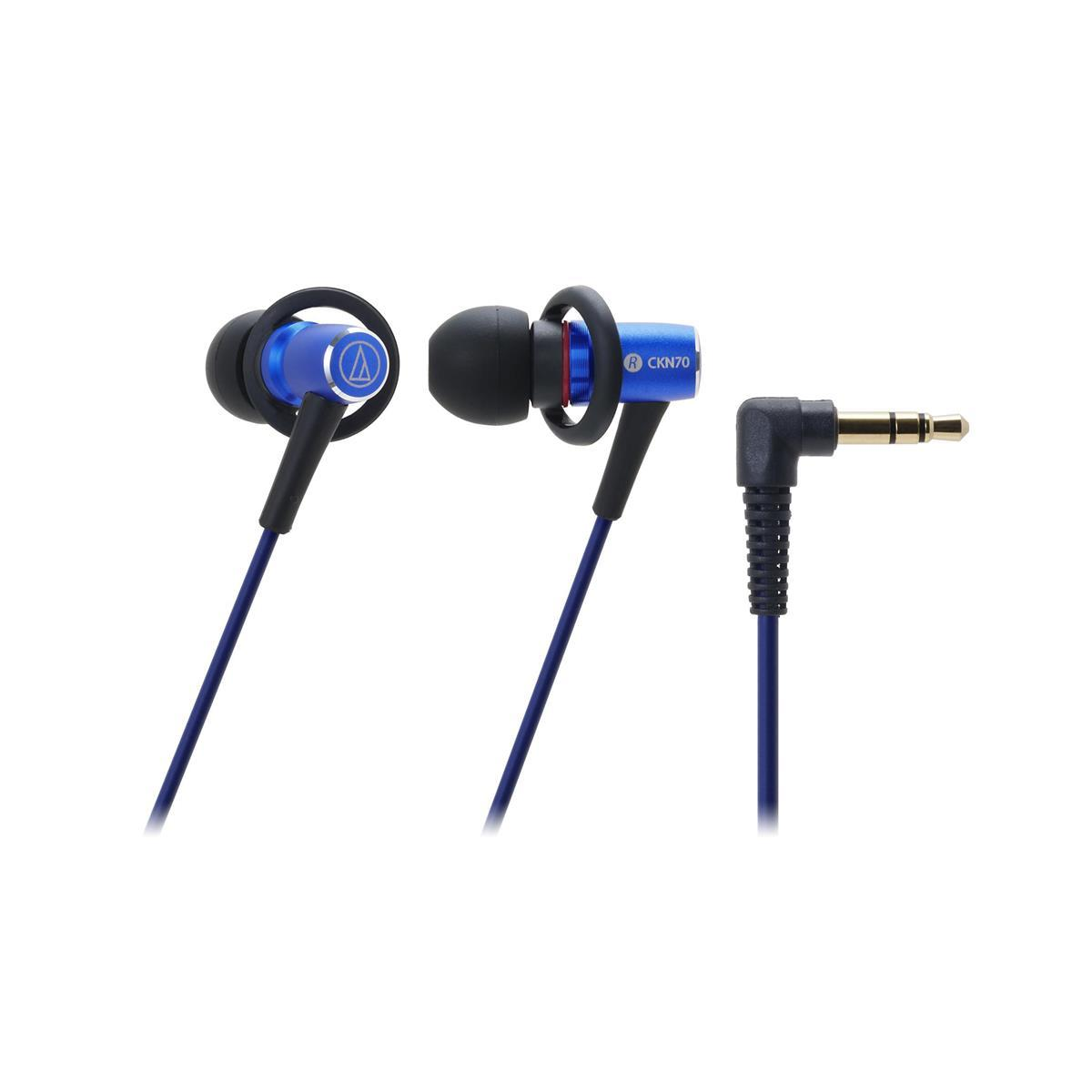 AudioTechnica ATH-CKN70 In-Ear Dynamic Headphones (Blue)