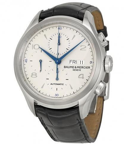 BAUME ET MERCIER Clifton Automatic Chronograph Silver Dial Men's Watch