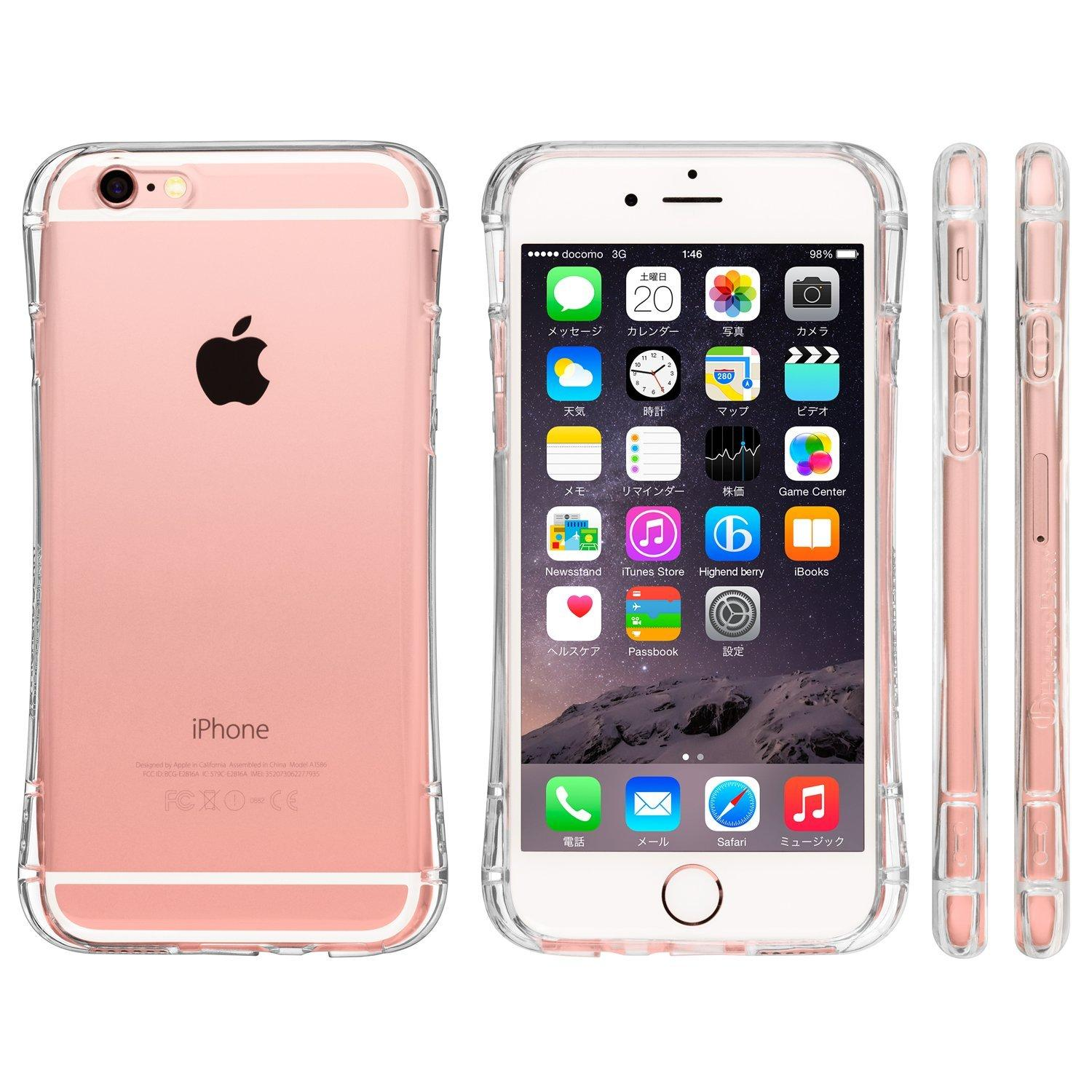 $7.99 iPhone 6/6s Highend Berry Original Soft TPU Clear Arc Case with Protective Caps