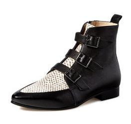 Jimmy Choo Marlin Dotted Leather Buckle Ankle Boot On Sale @ Gilt