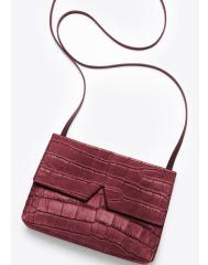 Vince Signature Croc-Embossed Crossbody Bag(4 colors)