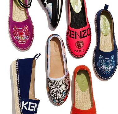 $50 Off $200 Kenzo Suede Tiger Logo Espadrille Flat @ Neiman Marcus