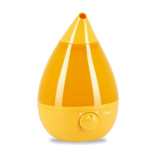 Only for Prime Members! Crane Drop Shape Ultrasonic Cool Mist Humidifier with 2.3 Gallon output per day - Orange