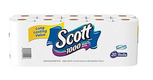 Scott® Bath Tissue Rolls, 1-Ply, 20 Rolls/Case