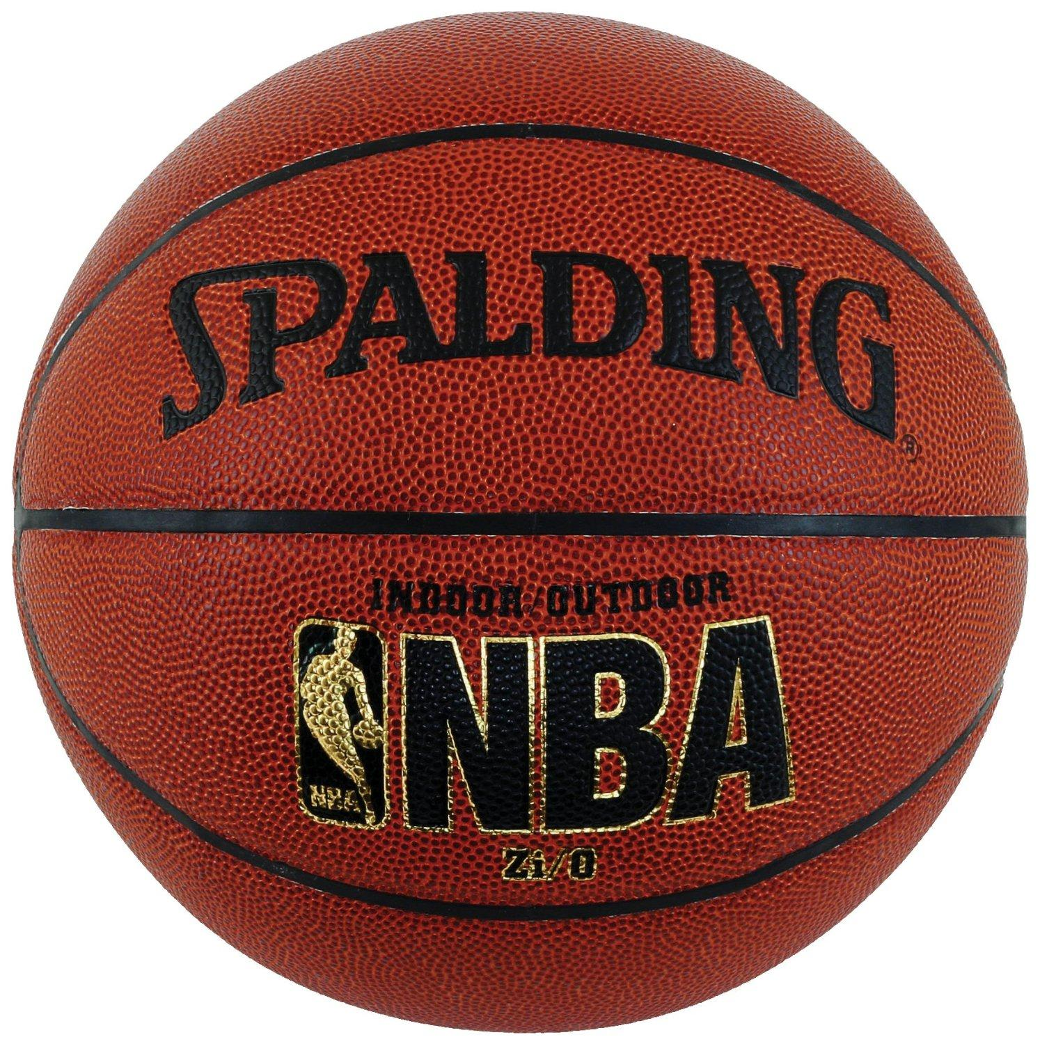 Spalding NBA Zi/O Indoor/Outdoor Basketball - Official Size 7 (29.5