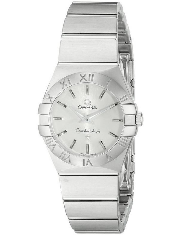 Omega Women's 12310246002001 Constellation Analog Display Swiss Quartz Silver Watch