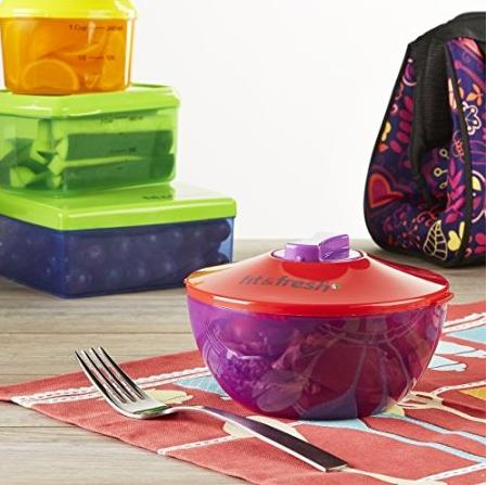 Fit & Fresh Kids' Healthy Lunch Reusable Container Kit, 13 Piece Set