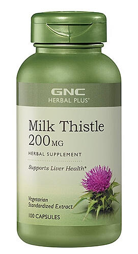 Lowest Price Ever!2 For $34.78 GNC Herbal Plus® Milk Thistle 200 MG 100 Capsules
