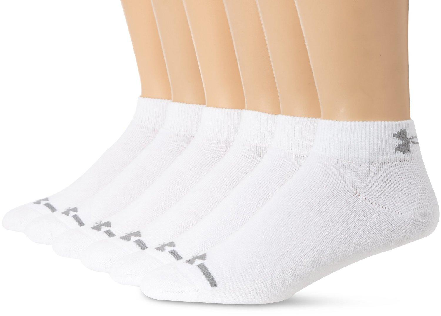Under Armour Men's Charged Cotton Low-Cut Socks