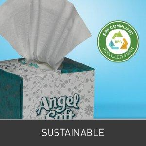 Deal of the day Georgia-Pacific Angel Soft ps 46580 White Premium Facial Tissue, Cube Box