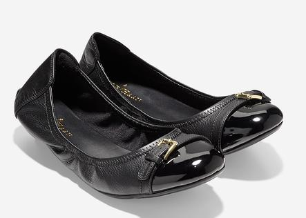 Cole Haan Patent Leather Jenni Buckle Flats