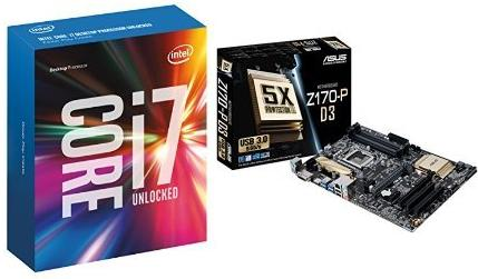 Intel Core I7-6700K with ASUS Z170-P Motherboard Bundle