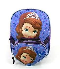 $3.5 Disney Sofia Toddler Backpack with Detachable Handbag