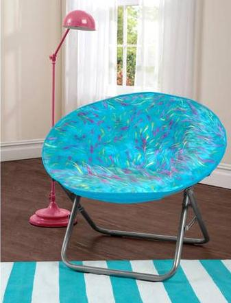 Your Zone Spiker Faux Fur Saucer Chair