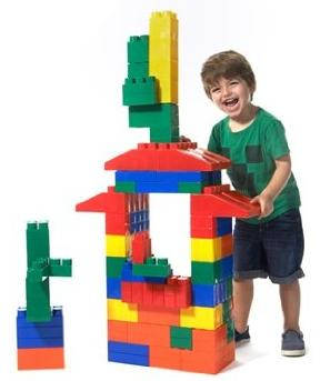 Little Box Mighty Big Blocks 100-Piece Jumbo Set