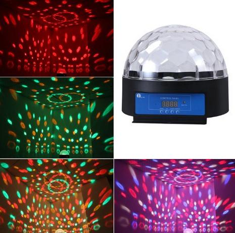 "$32.99 1byone O00QS-0060 8.6"" Crystal Super LED Stage Light"