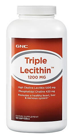 GNC Triple Lecithin™ 1200 mg 180 softgels