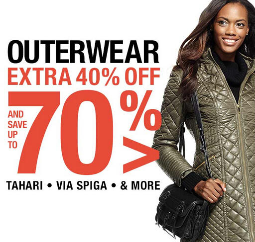 Extra 40% OFF Designer's Outwear at Fashion Dash @ LastCall by Neiman Marcus