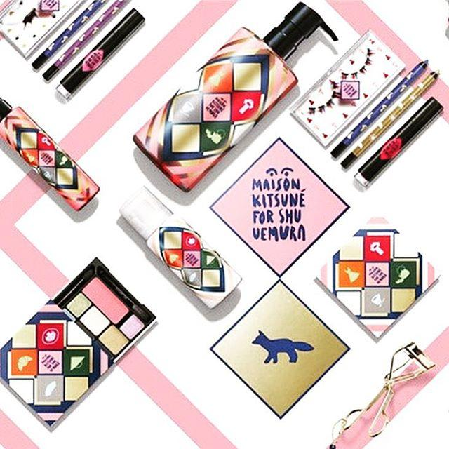 Free 5 pieces Gifts with Shu Uemura X Maison Kitsune Holiday Collection Purchase @ Shu Uemura
