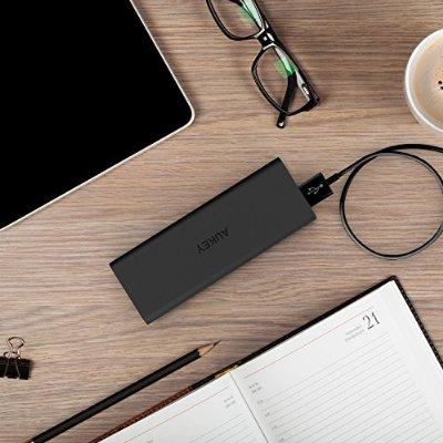 Aukey 3600mAh Portable Charger External Battery with Apple MFI Certified Lightning Cable included