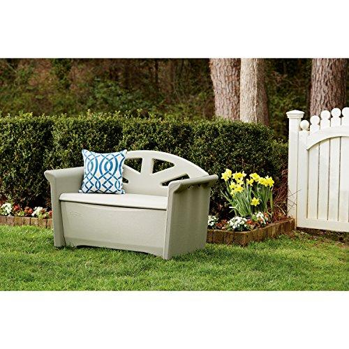 Rubbermaid Patio Storage Bench, Dark Platinum #3764