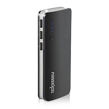 LG Powered - 10,000 mAh Intelligent Power Bank with Digital Display & Dual USB Outputs