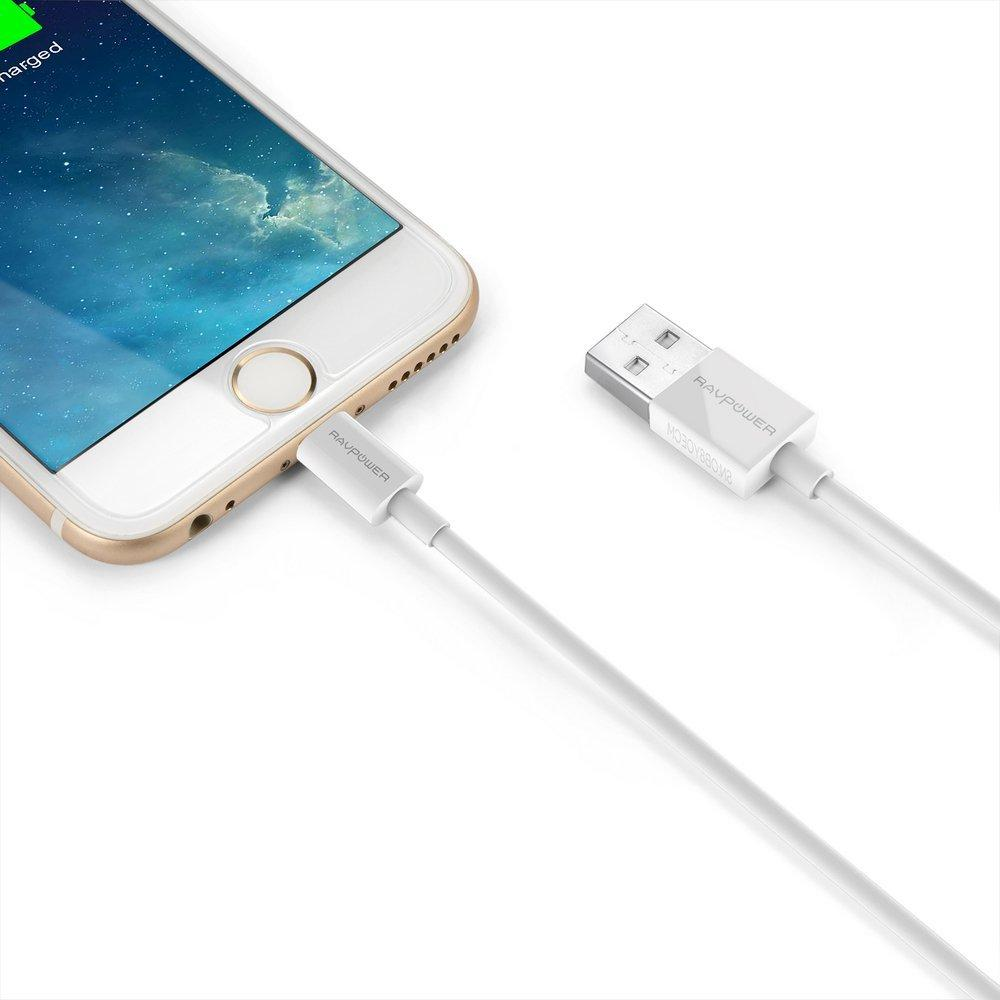 2-Pack of RAVPower 3 Ft. (0.9m) Apple MFi Certified 8-Pin Lightning to USB Charge & Sync Cables
