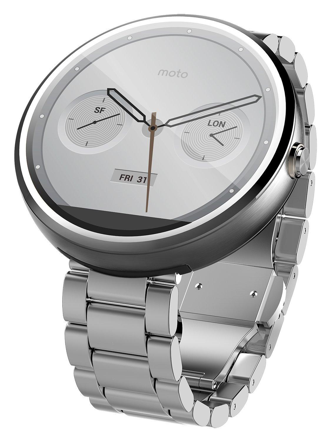 Motorola Mobility Moto 360 Androidwear Smartwatch - Natural Metal - 18mm