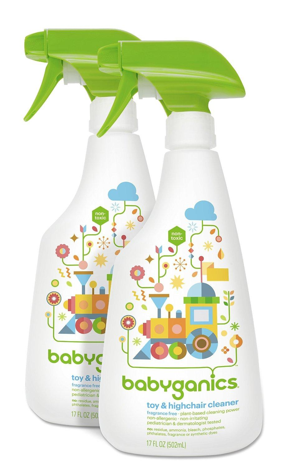 Babyganics Toy & Highchair Cleaner, 17-Fluid Ounce Bottles (Pack of 2)