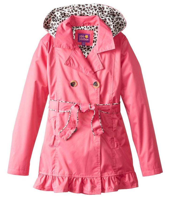 Pink Platinum Big Girls' Double Leopard Jacket