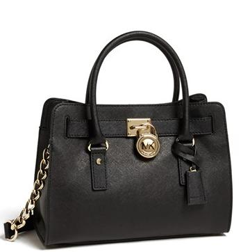 MICHAEL Michael Kors 'Medium Hamilton' Saffiano Leather Satchel(3 colors)