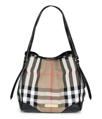Burberry Canterbury Mixed-Media Bridle Tote