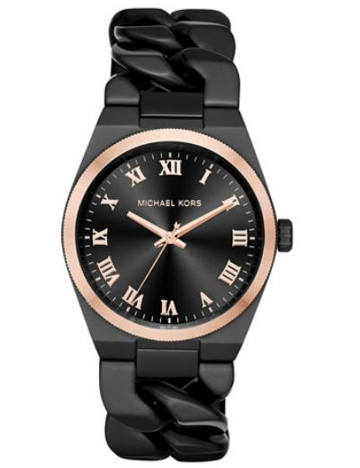 Michael Kors  38mm Channing Chain Link Watch, Rose Gold @ Neiman Marcus
