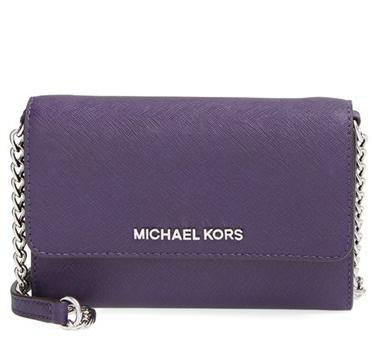 MICHAEL Michael Kors 'Large Jet Set' Saffiano Leather Crossbody Bag @ Nordstrom