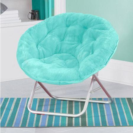 $24.88 Mainstays Large Microsuede Saucer Chair, Multiple Colors