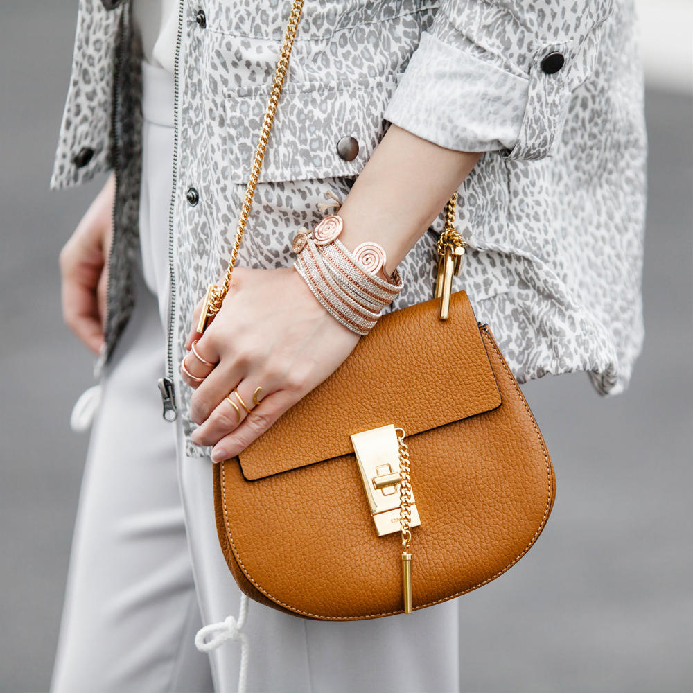 Chloé Small Shoulder Bag with Chain, Gingerbread On Sale @ MYHABIT