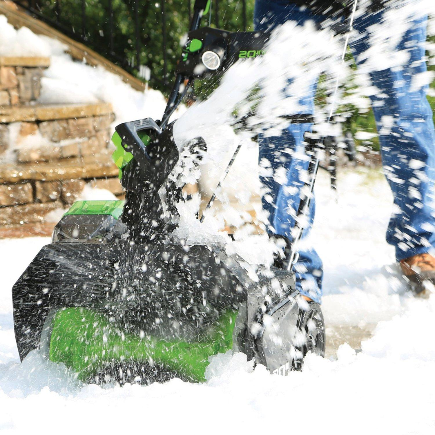 "$299 GreenWorks Pro 80V 20"" Snow Thrower w/ 2Ah Battery & Charger"