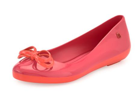 Melissa Shoes Colorfeeling Jelly Ballet Flat(size 8-10)