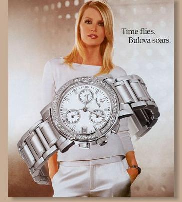 Bulova Diamond Chronograph Ladies Watch 96R19
