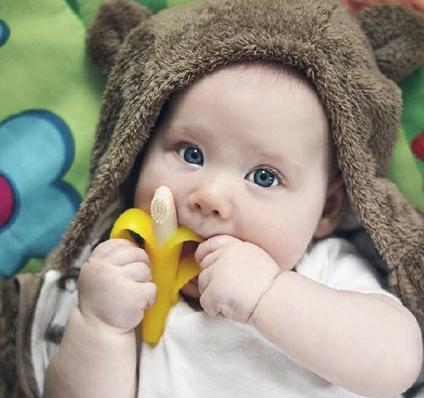 $3.60 Baby Banana Bendable Training Toothbrush, Infant