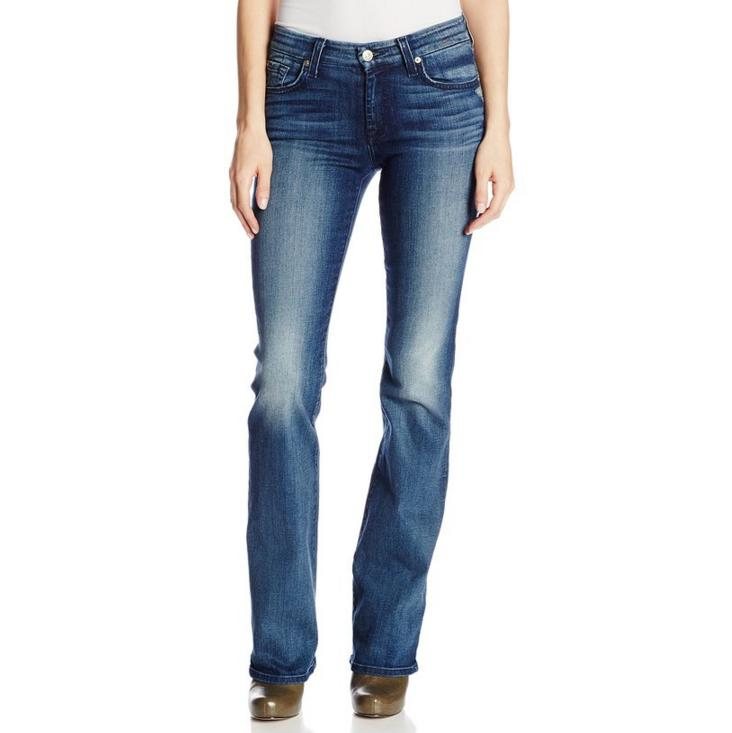 7 For All Mankind Women's Kimmie Bootcut Jean In Lehrouche Authentic Blue