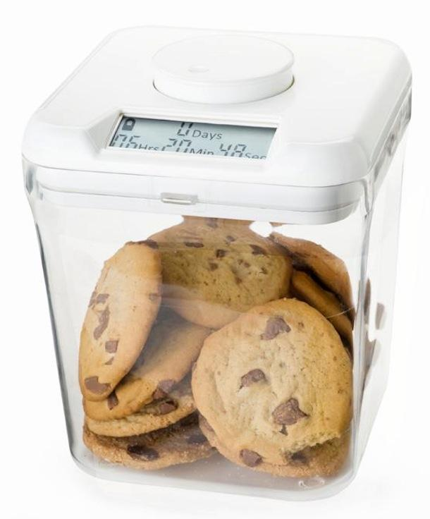 Kitchen Safe: Time Locking Container (Red Lid + White Base) - 5.5