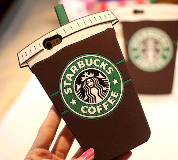 $3.83 Starbucks Coffee Ice Cream Rubber Phone Case Cover for Iphone 6 4.7