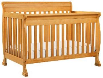 DaVinci Kalani 4-in-1 Convertible Crib with Toddler Rail, Honey Oak