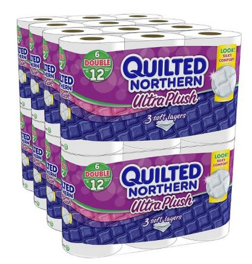 $33.58 2 Pack of Quilted Northern Ultra Plush 3 ply Toilet Paper 48 Double Rolls