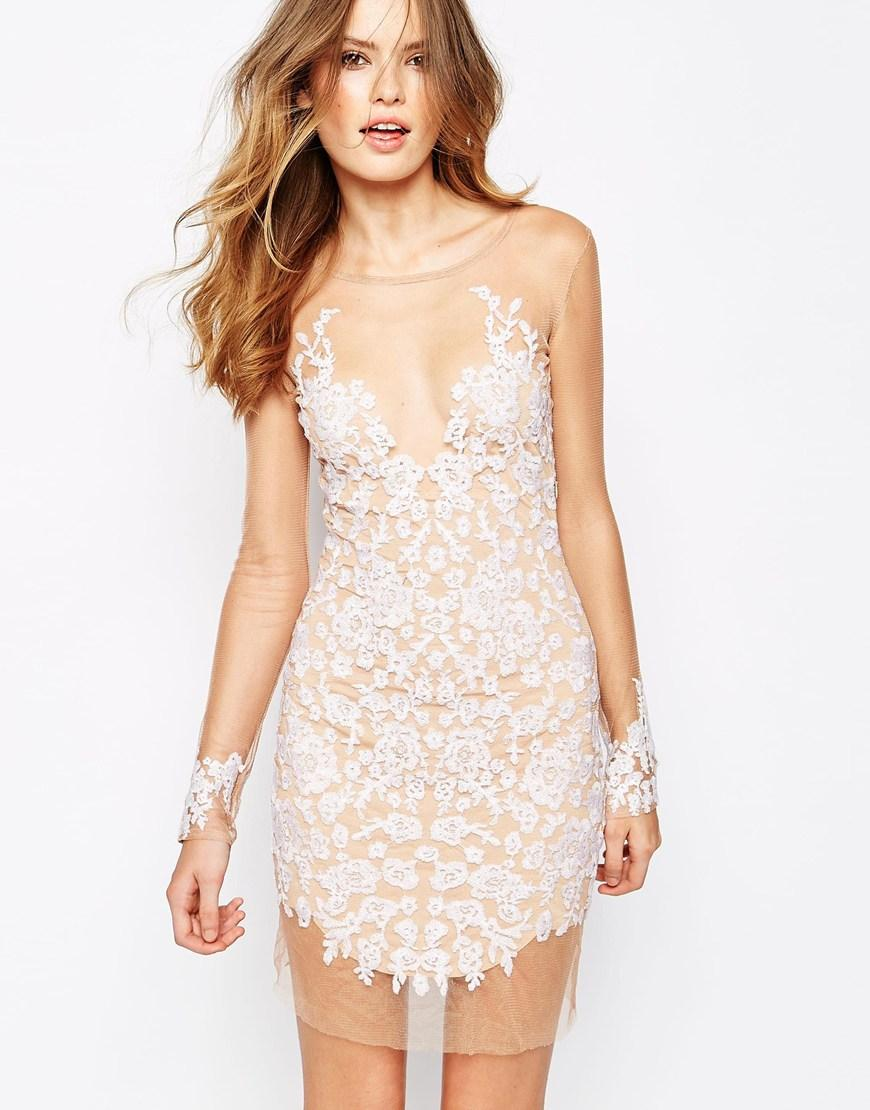 For Love And Lemons Luau Mini Illusion-Top Dress @ Saks Off 5th