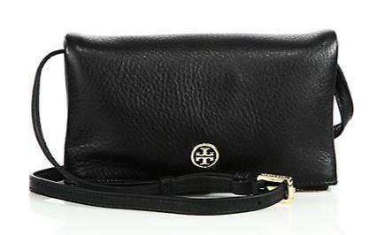 Tory Burch Robinson Leather Fold-Over Crossbody Bag