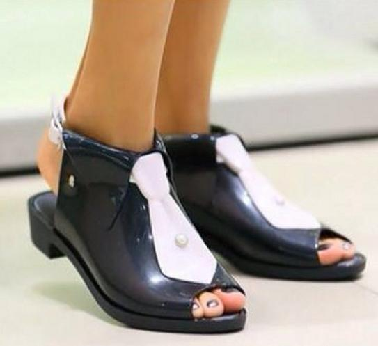 Melissa Shoes Black Tie + Karl Lagerfeld On Sale @ 6PM.com