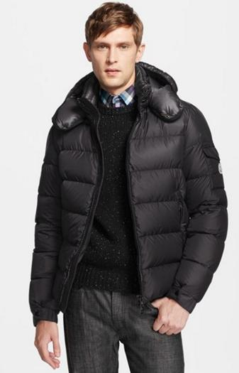 Moncler 'Hymalay' Matte Down Jacket with Gloss Detachable Hood