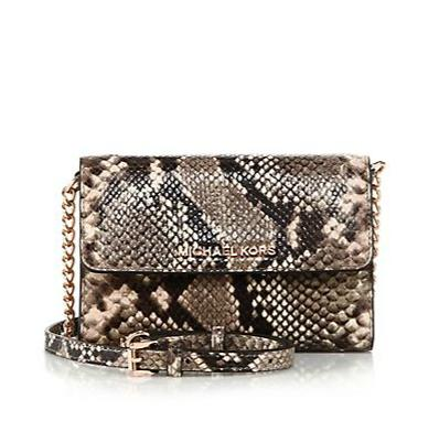 MICHAEL MICHAEL KORS Jet Set Python-Embossed Smartphone Crossbody Bag @ Saks Fifth Avenue